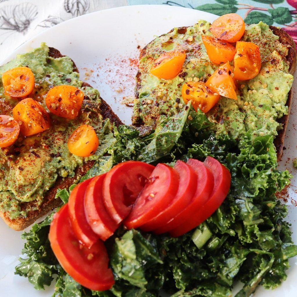 Avocado Toast w/ Pistachio Pesto and Grape Tomatoes